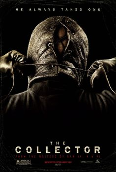 The Collector , starring Josh Stewart, Andrea Roth, Juan Fernández, William Prael. Desperate to repay his debt to his ex-wife, an ex-con plots a heist at his new employer's country home, unaware that a second criminal has also targeted the property, and rigged it with a series of deadly traps. #Crime #Horror #Thriller