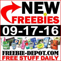 ►► NEW FREEBIE HOTLIST – FREE Stuff for September 17, 2016 ►► #Free, #FREEStuff, #Freebie, #Frugal, #HOTLIST ►►