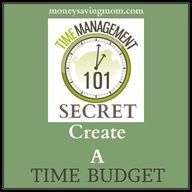 Time Management 101 Secret: Create a time budget!