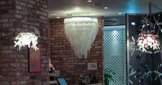 Ceremony by Bruno Rainaldi and Luì by Adriano Rachele light up the interiors of RICE RICE restaurant, Korea Light Project, Light Up, Korea, Rice, Chandelier, Restaurant, Interiors, Gallery, Projects