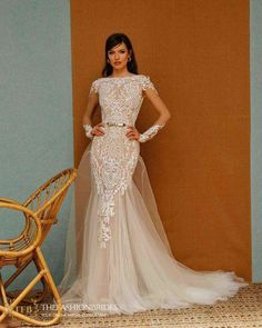 Berta Muse 2020 Fall Bridal Collection – The FashionBrides Parisienne Chic, Wedding Dress Necklines, Bridal Dresses, Stunning Wedding Dresses, Wedding Gowns, Wedding Cakes, Vintage Lace Weddings, Berta Bridal, Fit And Flare Wedding Dress