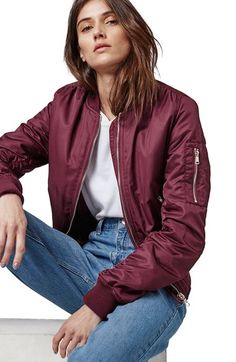 Topshop MA1 Bomber Jacket (Regular & Petite) available at #Nordstrom