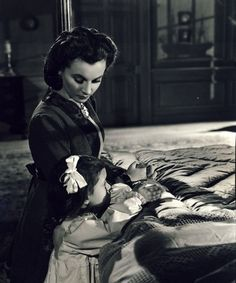 unseen footage.....Vivien Leigh as Scarlett O'Hara with Cammie King as her…