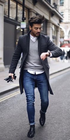 Casual Coat Outfit-Ideen für Männer Casual Coat Outfit Ideas for Men - Fashion Mode, Mens Fashion, Fashion Outfits, Style Fashion, Fashion Menswear, Fashion Rings, Fashion Boots, Trendy Fashion, Fashion Design