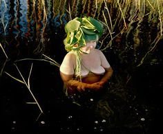 girl-women-Photographers Karoline Hjorth and Riitta Ikonen's photo series -tree-man-water