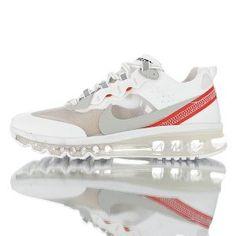 ff57cd1b19 Mens Running Shoes NIKE AIR MAX 2017 x React Element 87 White Red AQ1019-100