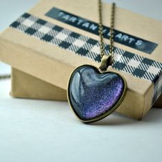 Next Stop Everywhere pendant in bronze Heart by TartanHearts