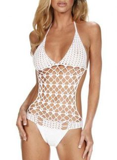 Sexy Hipster Crochet One Piece Swim Suit