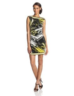 The Felana dress is a Trina Turk customer favorite and made up in the Spider Mum Shiny Jersey definitely amps it up. #Fashion  #Clothing