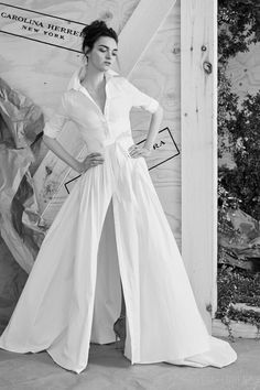 Wedding dresses are typically meh ('cause they're so typical) but wedding shirtdress is fabulous Carolina-Herrera-Spring-2017-Bridal-Collection-Tom-Lorenzo-Site