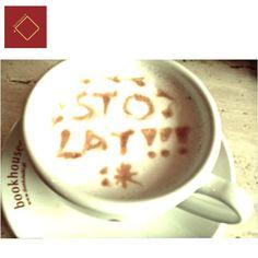 Caffè latte z dedykacją dla jubilata! ;)