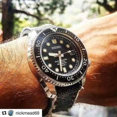 #MiLTAT collection black washed canvas strap perfectly fits on @nickmead69 SEIKO #mm300  #strapcode #strapcodefeaturing  #strapcodemm300