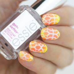 essie gel setter, neon nails, essie, snail vinyls, neon nails, american apparel nail polish, american apparel neon, neon nail art, cool nails, nail art