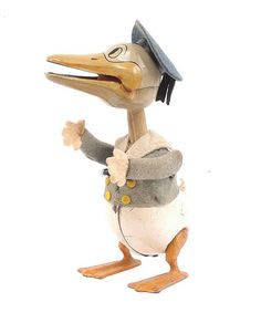 Schuco - Clockwork Donald Duck : Lot 1084 1937 Donald spins and quacks when wound. Faded blue felt from sun damage.