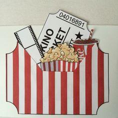Kinogutschein DIY - alles als Vorlage ausdrucken, ausschneiden, auf Karton kleben und fertig :-)                                                                                                                                                                                 Mehr