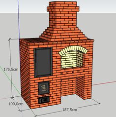 Wood Burning Heaters, Driveway Lighting, Barbecue Design, Brick Bbq, Backyard Seating, Garden Office, Exterior Remodel, Swimming Pool Designs, Outdoor Kitchen Design