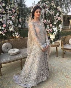Ideas Bridal Dresses 2017 Pakistani Silver For 2019 Bridal Dresses 2017 Pakistani, Latest Bridal Dresses, Asian Wedding Dress, Pakistani Wedding Outfits, Bridal Outfits, Indian Dresses, Nikkah Dress, Bollywood, Marie