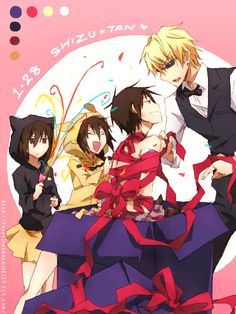 Image shared by Find images and videos about kawaii, present and durarara on We Heart It - the app to get lost in what you love. All Anime, Anime Guys, Manga Anime, Izaya Orihara, Shizaya, Celty Sturluson, Otp, Satsuriku No Tenshi, Japanese Anime Series