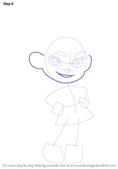 Learn How to Draw Vanellope von Schweetz from Wreck-It Ralph (Wreck-It Ralph) Step by Step : Drawing Tutorials Disney Character Drawings, Disney Princess Drawings, Disney Sketches, Disney Drawings, Drawing Tutorials, Drawing Ideas, Disney Drawing Challenge, Doll Drawing, Vanellope Von Schweetz