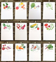 DUETS  2012 market / garden calendar by redcruiser on Etsy