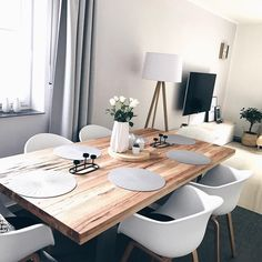 Scandinavian Dining Room Design: Ideas & Inspiration - Di Home Design Dining Room Design, Interior Design Living Room, Living Room Decor, Living Rooms, Modern Interior, Black And White Furniture, Dining Room Inspiration, Interior Inspiration, Style Inspiration
