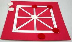 Paper game board for Achi