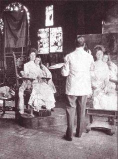 History of Sight-Size: Sargent, <emSargent painting Mrs. Fiske Warren (Gretchen Osgood) and Her Daughter Rachel (1903)