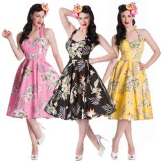 Hell Bunny Alika Tropical Hawaii Rockabilly Vintage 50s Party Prom ...