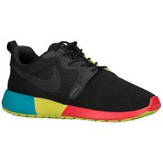 Nike Roshe Run - Women's - Running - Shoes - Volt/Hyper Pink/Black/Bright Mango