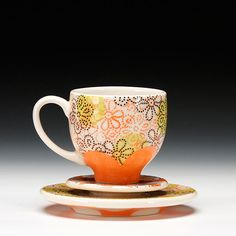 Meredith Host, Teacup with saucer and mini saucer