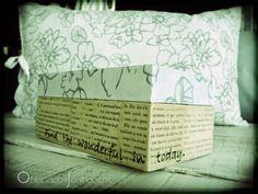 Caixa tecido+livros antigos ✿ Encomendas ✿: oficina@oficinadossentidos.pt