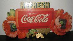 RARE Vintage 1938 Coca Cola Die Cut Festoon Cardboard Display Sign | eBay