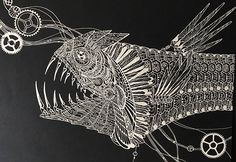 Detailed Paper Cuts Swirling Forms Of Nature by Kiri Ken