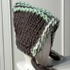 Kinitted Chunky Pixie Hat Hood Elf Gnome Designer by iaFlowerPower