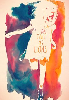 As tall as lions  #watercolor #feline