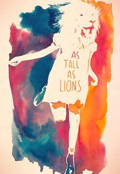 As tall as lions  #watercolor #feline
