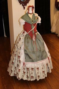 Huertana Beauty And The Beast Party, European Dress, 1800s Fashion, Lederhosen, Dressmaking, Old School, Victorian, Folklore, Clothes