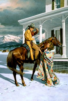 Old West - Code of The West book illustration by Larry Selman Cowboy Horse, Cowboy Art, Western Cowboy, Westerns, Native American Art, American Artists, American History, Pin Ups Vintage, West Art