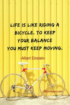 Life is like riding a bicycle, to keep your balance, you must keep moving_ #alberteinsteinlifeislikeridingabicycle #lifeisridingabicycletokeepyourbalanceyoumustkeepmoving #einsteinlifeislikeridingabicycle #lifeislikeridingabiketokeepyour #balanceyoumustkeepmoving #alberteinsteinridingabike #alberteinsteinquoteslifeislikeridingabicycle #einsteinquotelifeislikeridingabicycle Albert Einstein Thoughts, Scientist Albert Einstein, Albert Einstein Quotes, Hi Quotes, Need Quotes, Nobel Prize In Physics, Not Always Right, Philosophy Of Science, Modern Physics