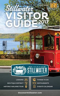 View/Download 2017 Visitor Guide Online Welcome travelers! Order your very own Official Visitor Guide and Map of Stillwater, Minnesota to be mailed directly to your doorstep for free. Live nearby? Pick up one in person from merchants downtown or at one of our ambassador locations: Alfresco Casual Living, Water Street Inn, and Northern Vineyards. …