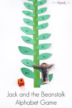 This Jack and the Beanstalk alphabet game is so much fun! It is the perfect extension activity for the popular fairy tale.