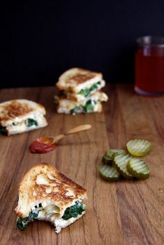 Spinach and Artichoke Grilled Cheese Sandwich by joy the baker