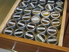 Do You Have a Spice Drawer You Love? I love this Idea!