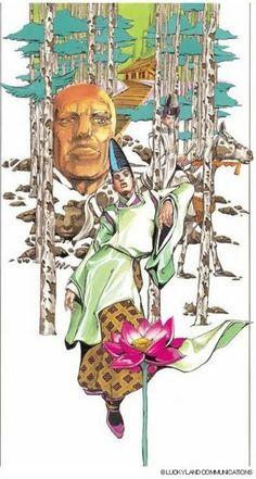 illustration by Hirohiko Araki Manga Art, Manga Anime, Comic Manga, Jojo Bizzare Adventure, Kintsugi, 2d Art, Japanese Artists, Fantastic Art, Jojo Bizarre
