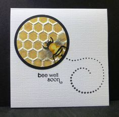 *F4A142 Bee Well by hobbydujour - Cards and Paper Crafts at Splitcoaststampers