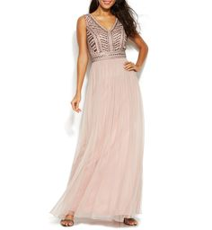 Patra New Stud-Embellished Pleated Chiffon Gown Size 6 MSRP $299 #A 150 #Patra #ALine #Formal