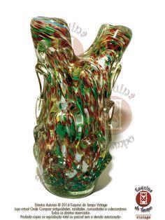Original Vaso Antigo De Murano Multicolorido Anos 50 - R$ 1.392,00 no MercadoLivre