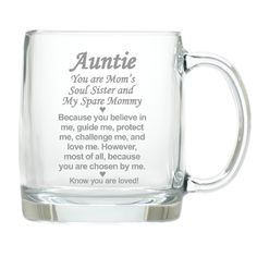 Chosen Aunt 13 oz. Glass Mug
