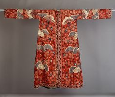 Man's Morning Gown (Banyan or Rock) Date: early 18th century Culture: India (Coromandel Coast), for the Dutch market Medium: Cotton, (painted resist and mordant, dyed)