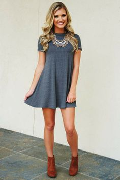 Share to save 10% on  your order instantly!  RESTOCK: The Stina Dress: Charcoal